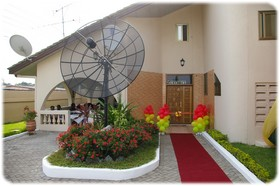 Entrance to Elmeiz Place Guest House in Accra Ghana